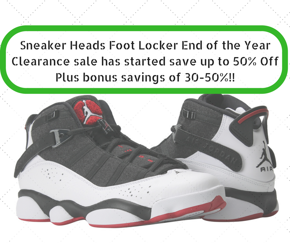 50% off  Jordans at Foot Locker