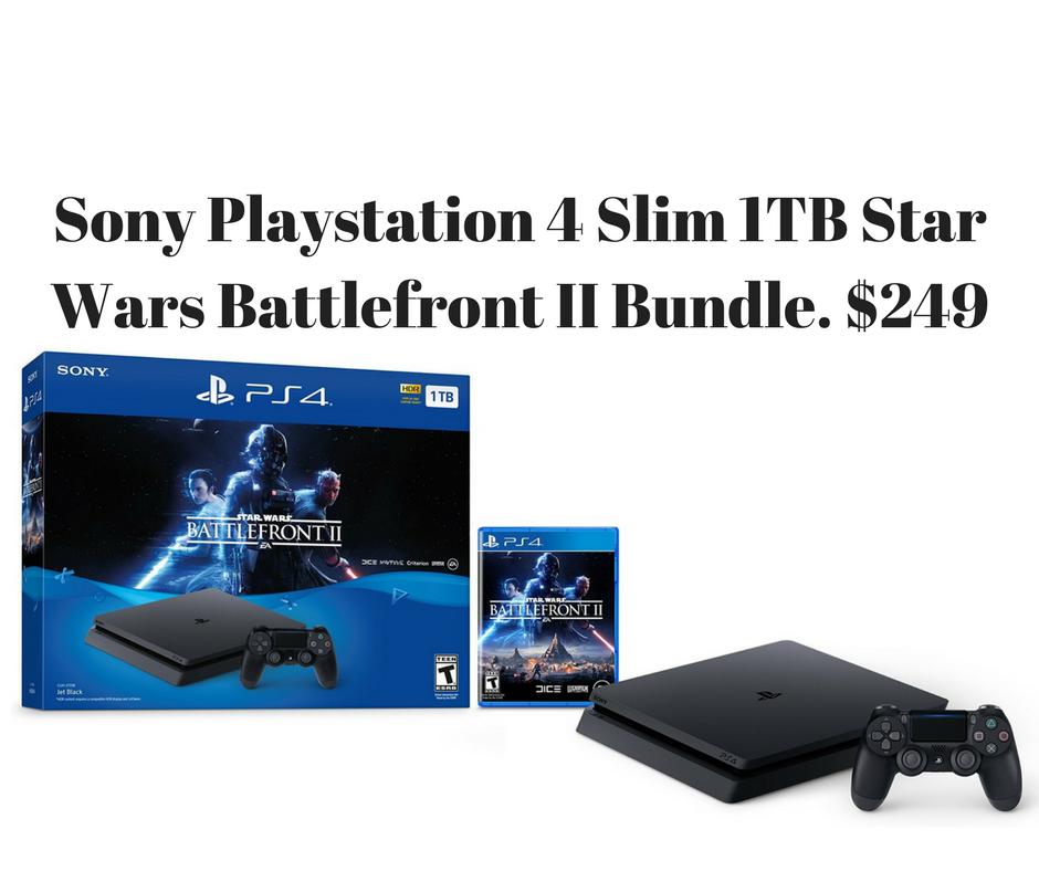 Sony Playstation 4 1Tb Bundle with/ Star Wars Battlefront II $249