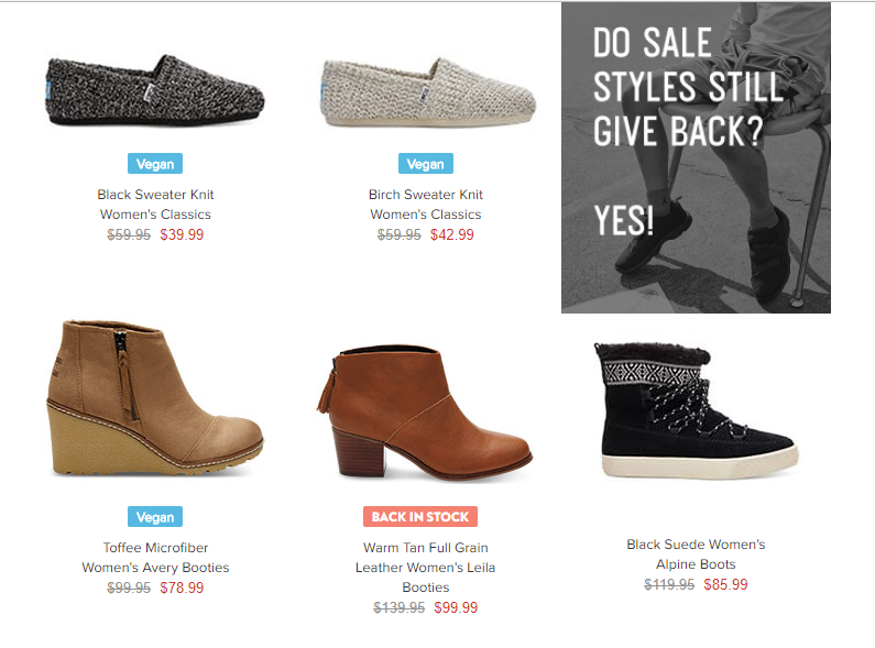b2bfb44a6424 toms shoes end of year clearance. TOMS fans you can receive free shipping  today ...