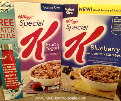 Great price on special k cereal at BJs after coupons