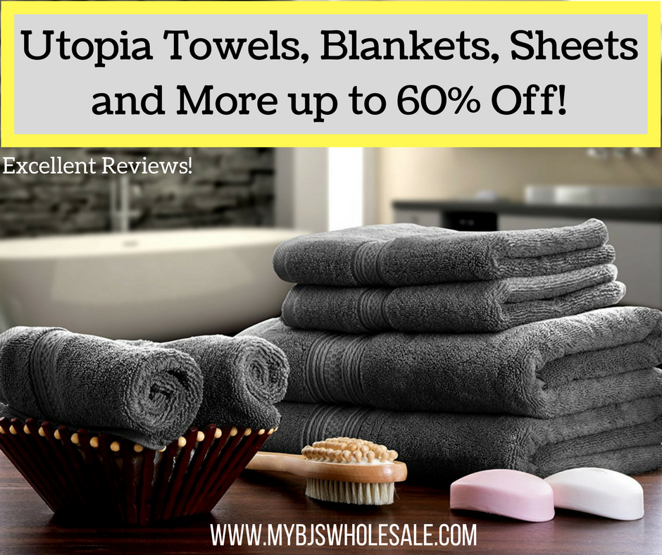 Utopia Towels 60% Off | 8 Pc Towel Set $23.78