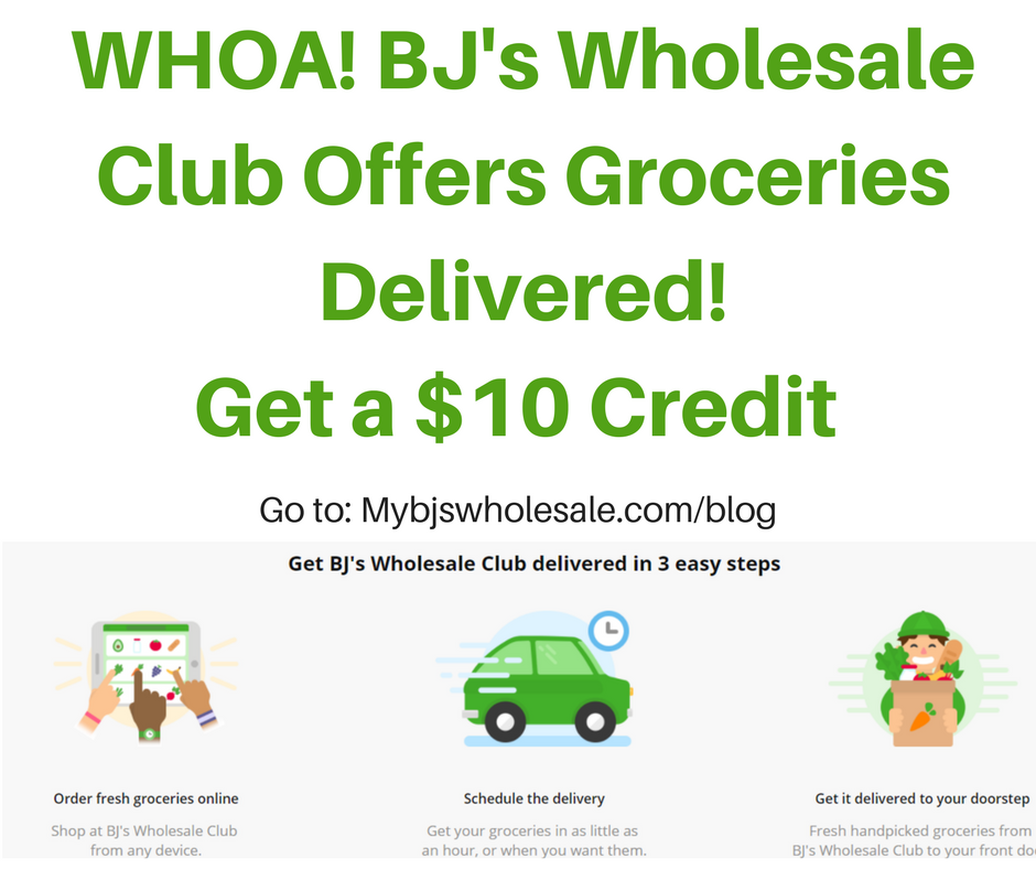 BJ's Wholesale Now Offers 1 Hr  Grocery Delivery Services