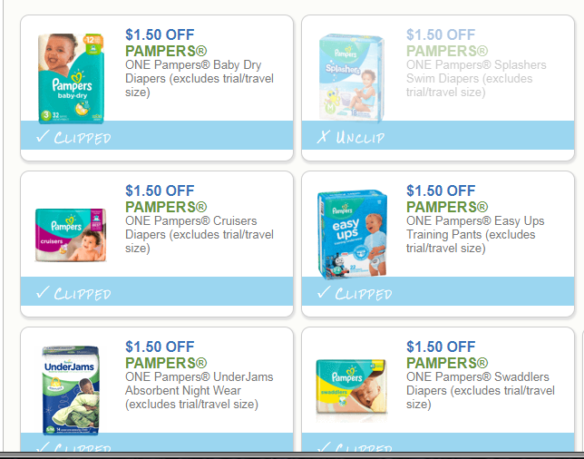 6 Brand New Pampers Coupons!