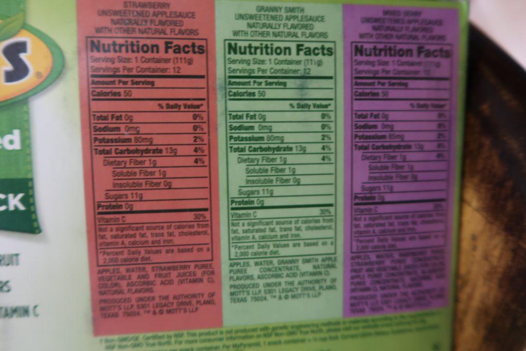 mott-applesauce-nutrition