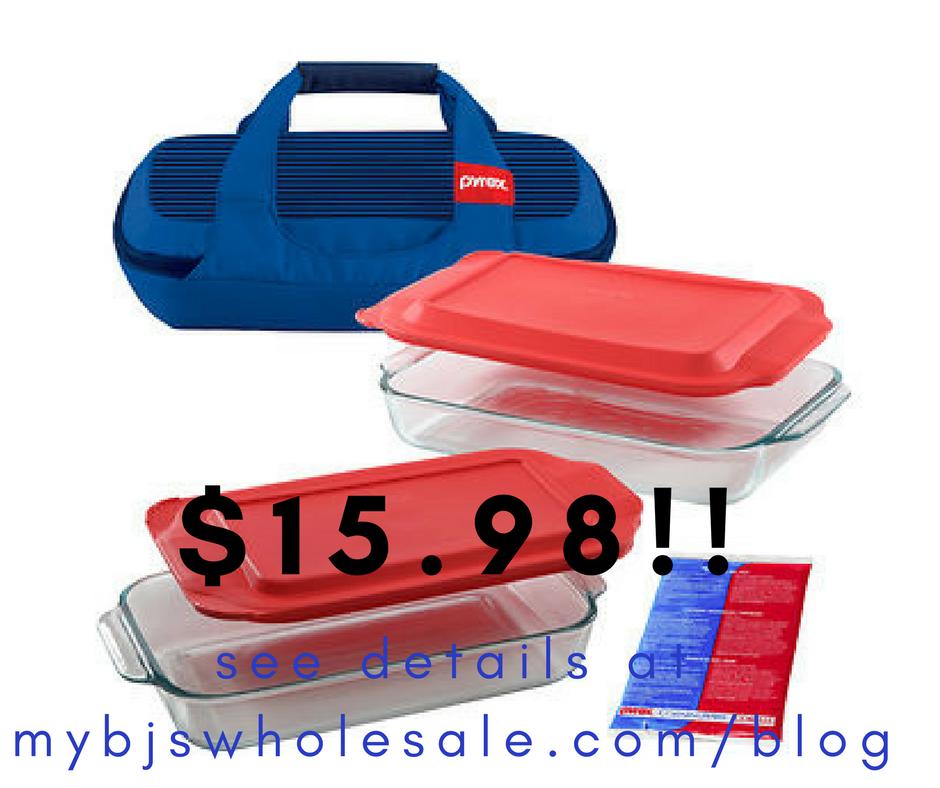 Pyrex Portables 6-Pc. Bakeware Set w/Carrier $15.98