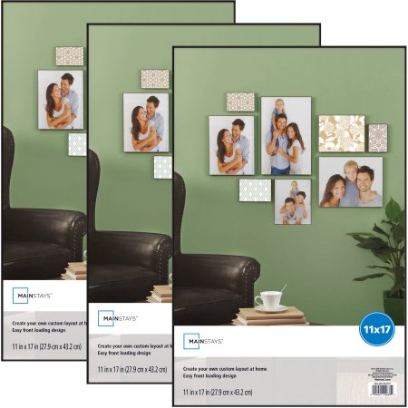 Mainstays 11×17 Picture Frame, 3 Pk $8.34