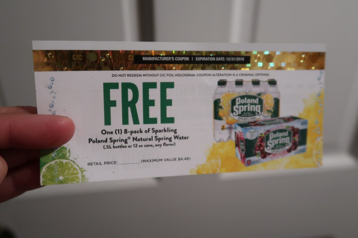 STILL AVAILABLE! Free 8 pk. Poland Spring  Water Coupon