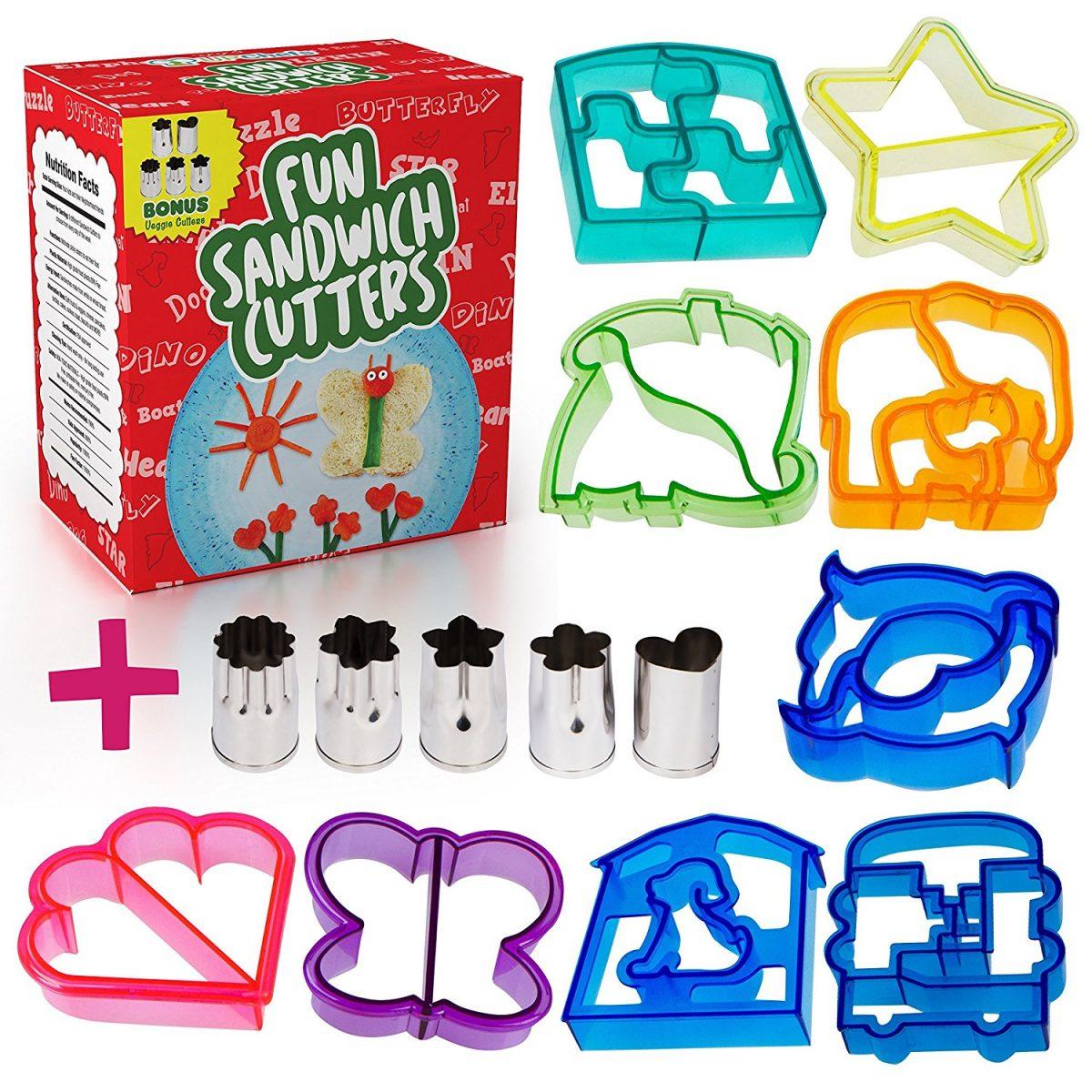 9 Fun Sandwich Shape Cutters for $13 Shipped!
