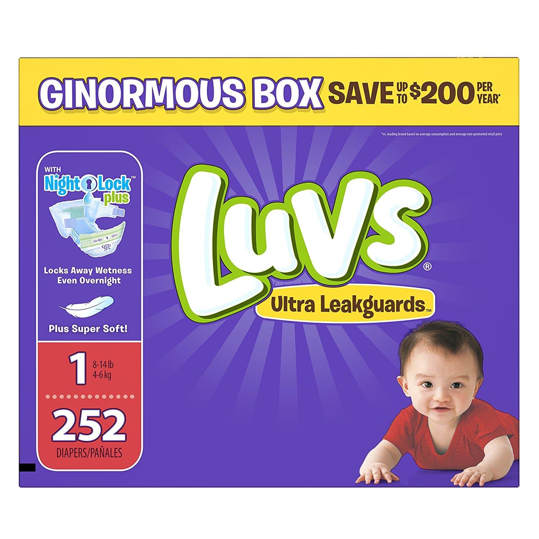 6¢ Per Luvs Diaper on Amazon!