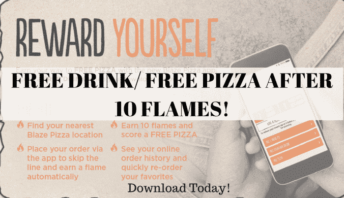 Free drink free pizza