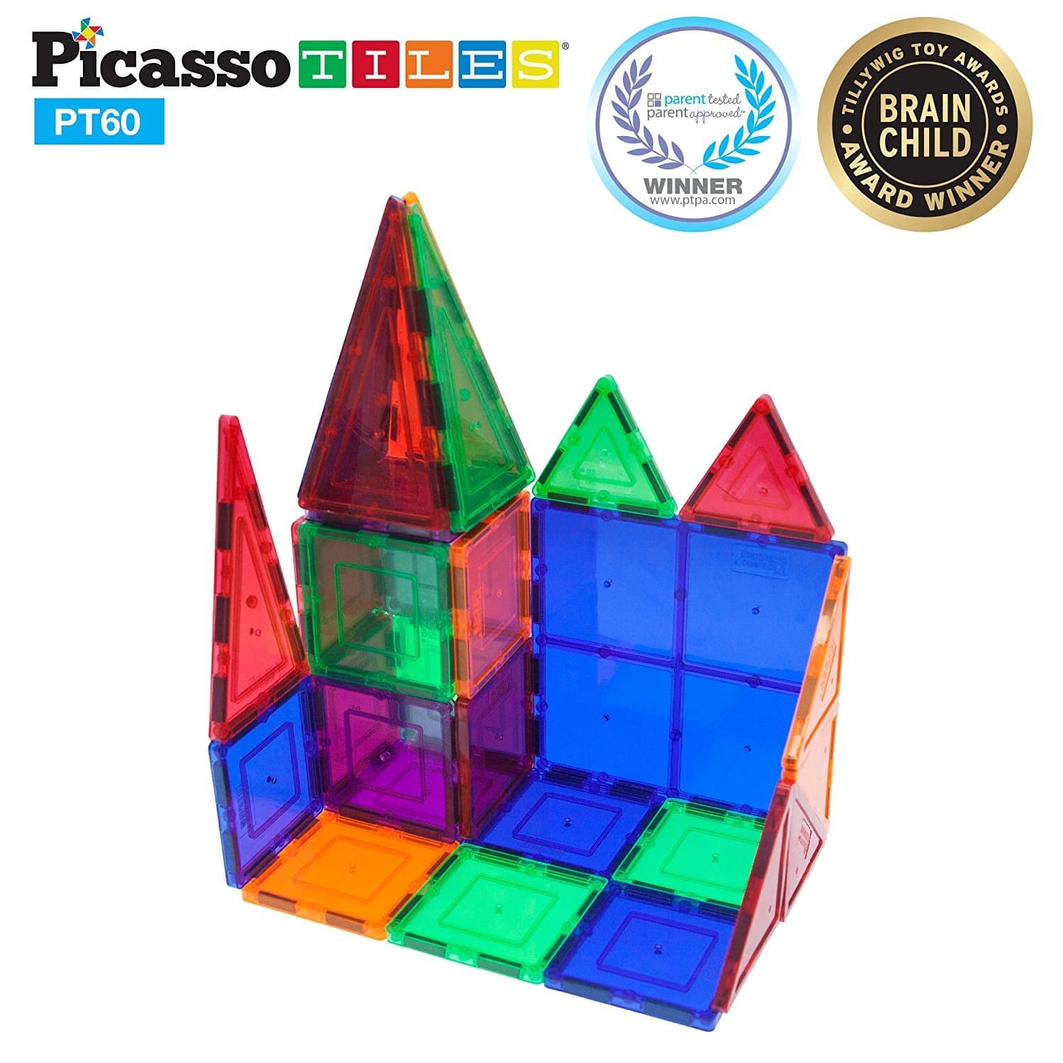 Lowest Price: Perfect Five Star Rated PicassoTiles 60 Piece Set Magnet Building Tiles