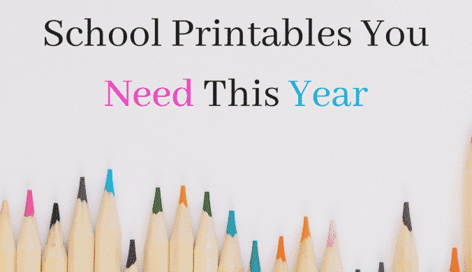 12 Amazing Free Back To School Printables You Need This Year