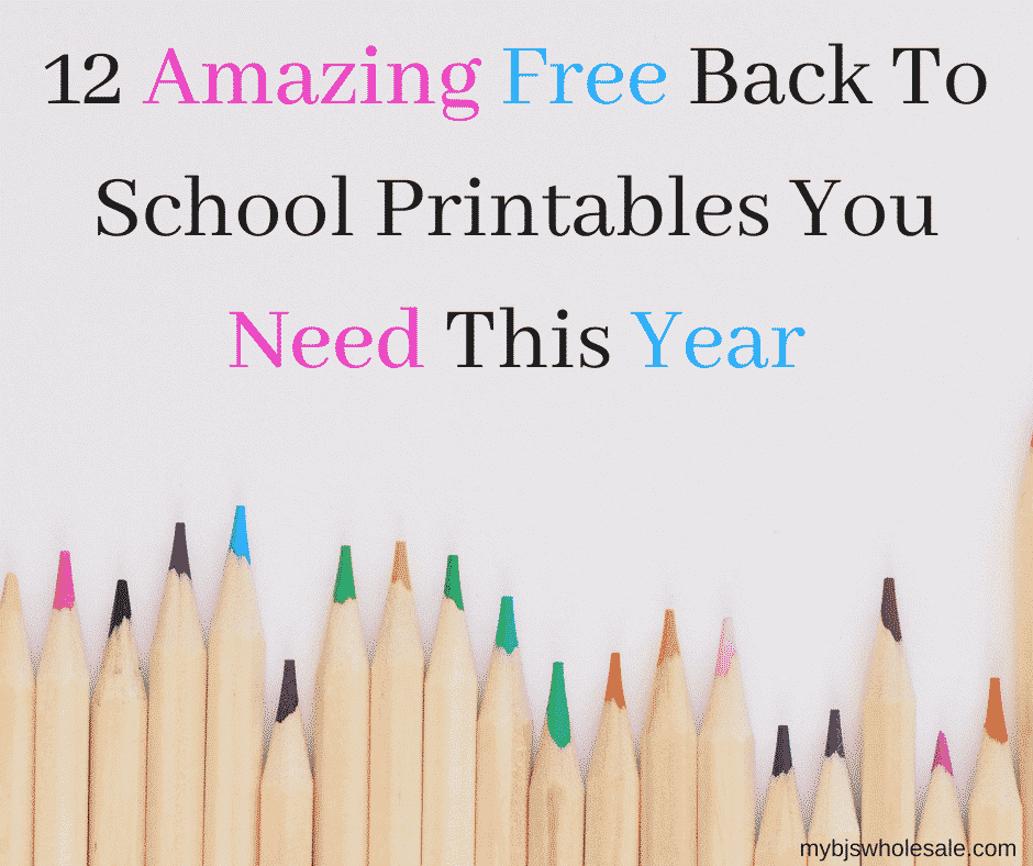 free back to school printables