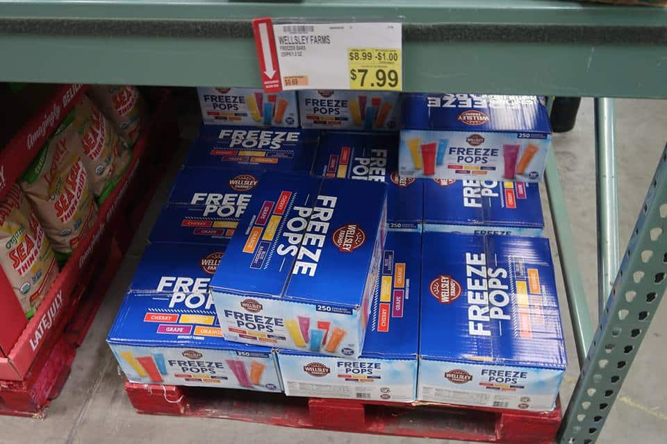 Wellsley Farms Freeze Pops ONly 3¢ Pop after Coupon!