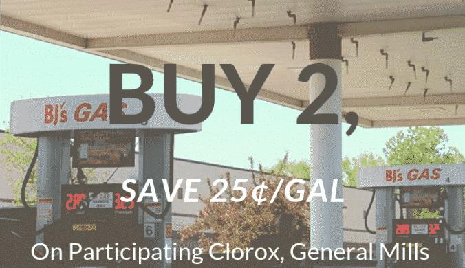 BJ's Gas Promo Clorox General Mills Gas Promo