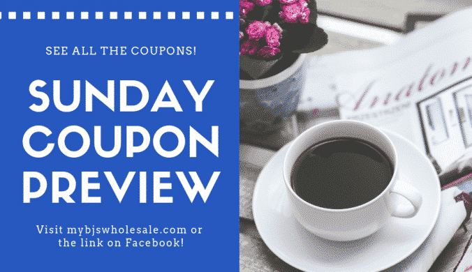 Sunday coupons coming in the newspaper this weekend
