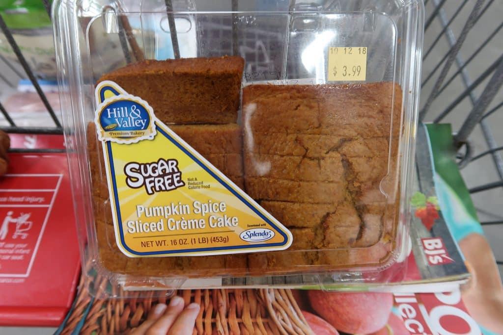bjs pumpkin loaf sugar free