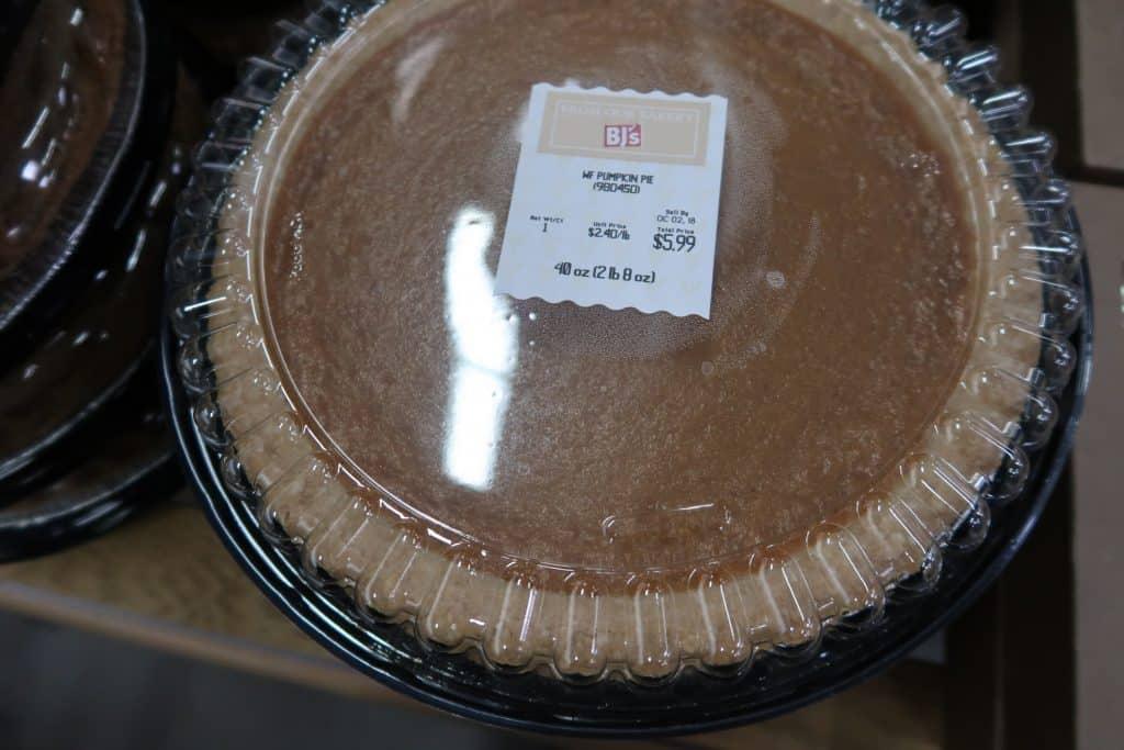pumpkin pie at Bjs wholesale club price