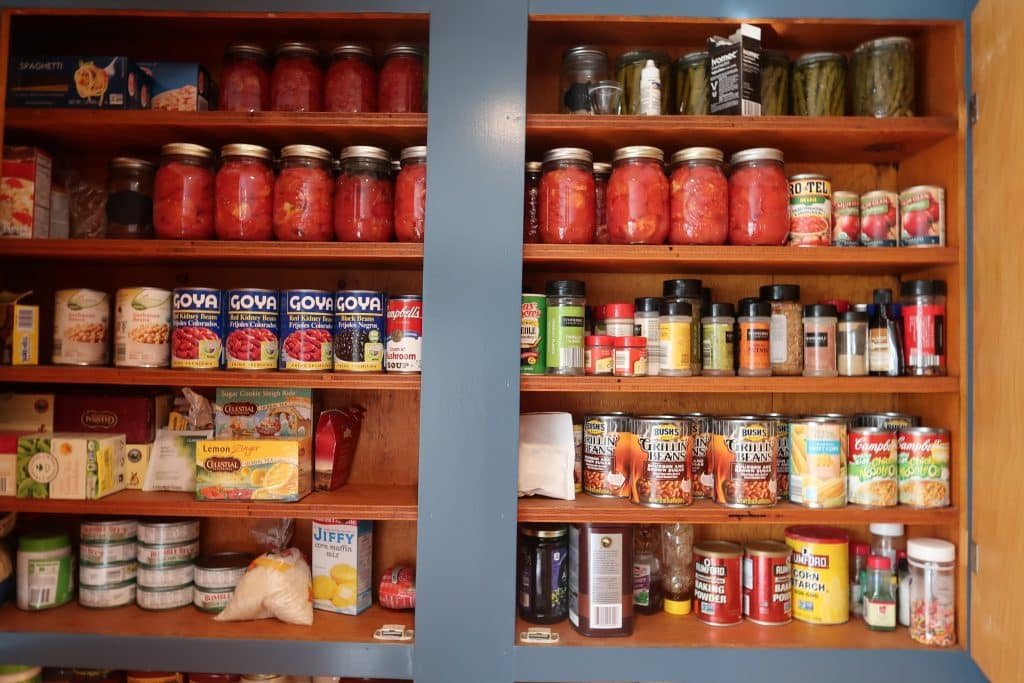 save moeny fast with a pantry spending freeze