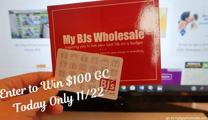 $100 bjs gift card giveaway mybjswholesale