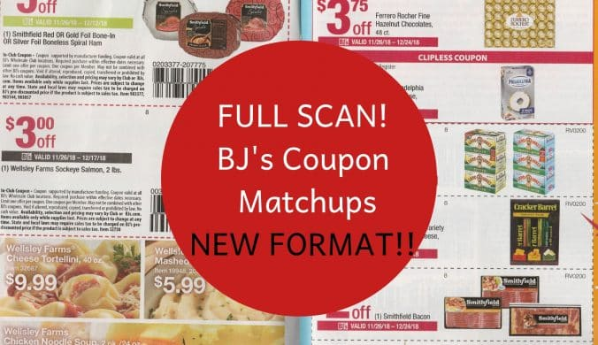FULL SCAN! BJ's Coupon Matchups NEW FORMAT!!