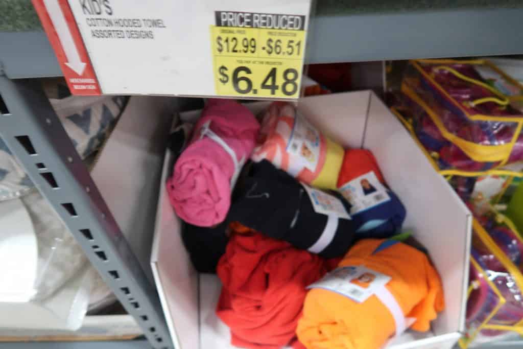 kids hooded towels cheap at BJs