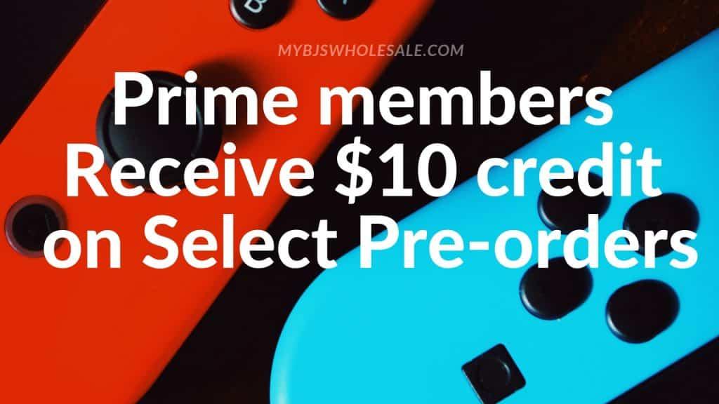 $10 credit video game pre order