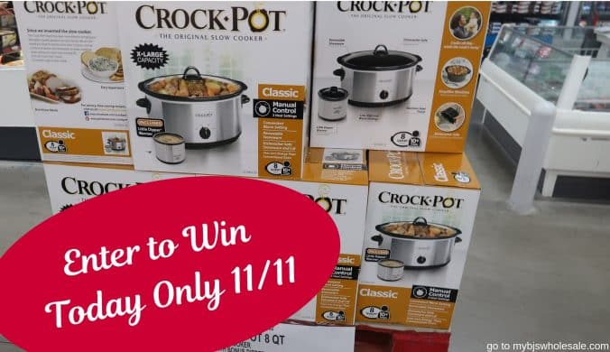 crock pot giveaway enter today only mybjswholesale
