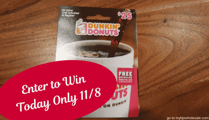 20 days of giveaways dunkin donuts gift card