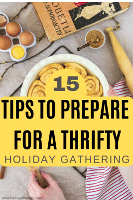 holiday gathering tips for a thrifty host