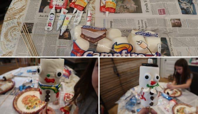 cheap marshmallows at BJs and snowmen craft