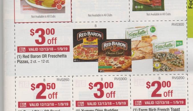 BJs monthly coupon book and scan matchups for 12/13 - 1/9