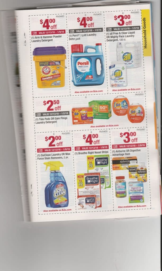 BJs monthly coupon book scan and matchups