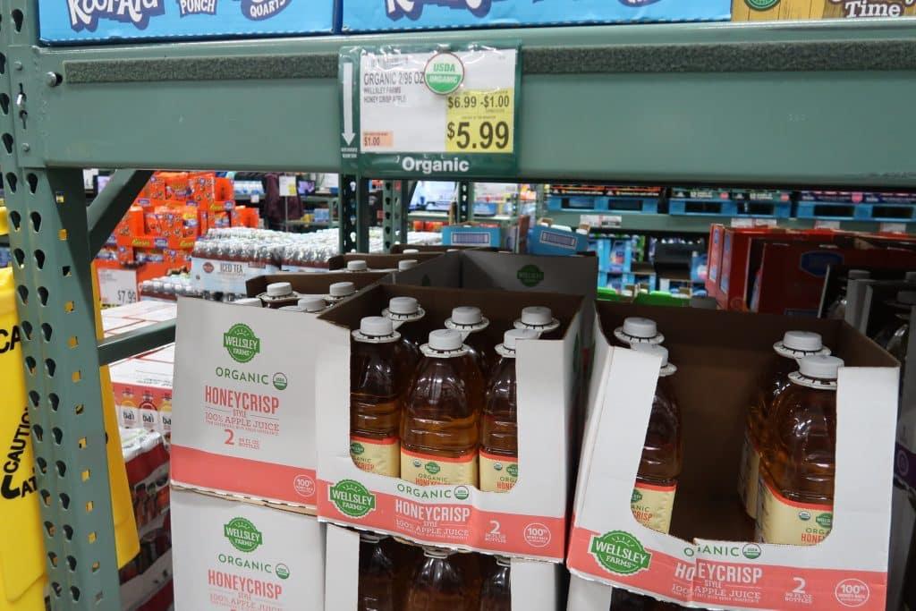 wellsley farms honey crisp apple juice deal