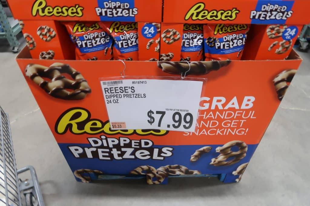 reese's dipped pretzels deal at BJs