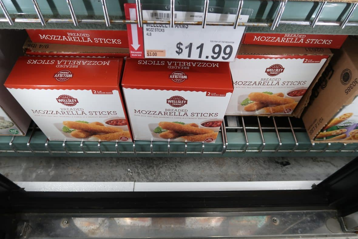 mozzarella sticks bjs brand