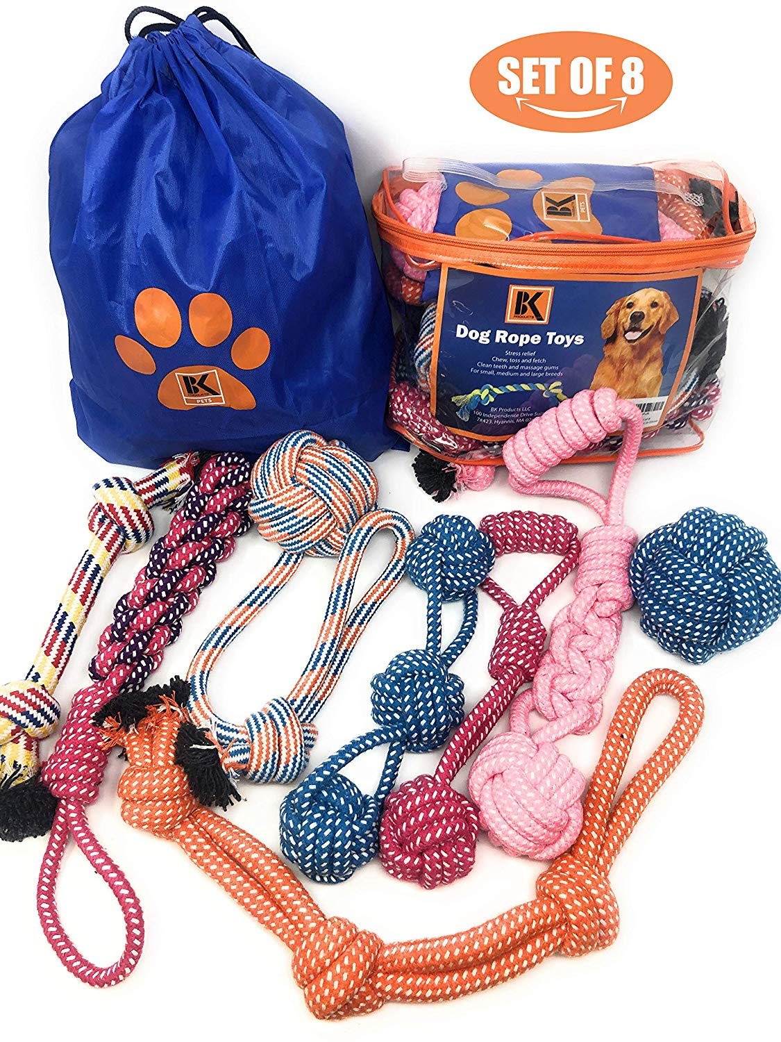 Teething and Playful Dogs? 8 Dog Toys for $19.95!