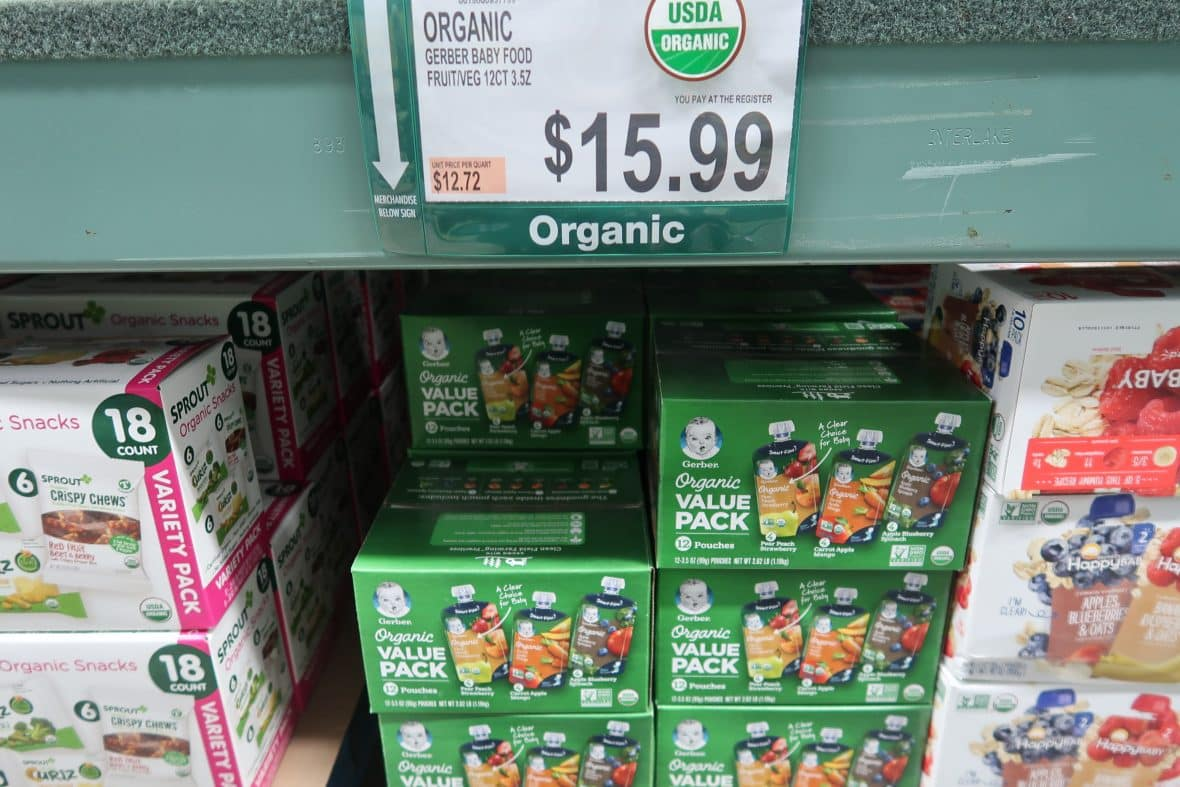 gerber organic baby food snack