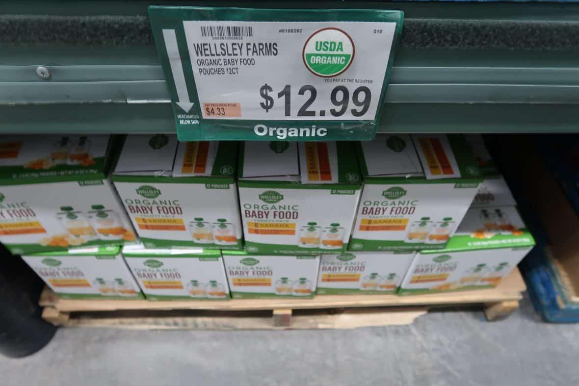 wellsley farms organic baby food