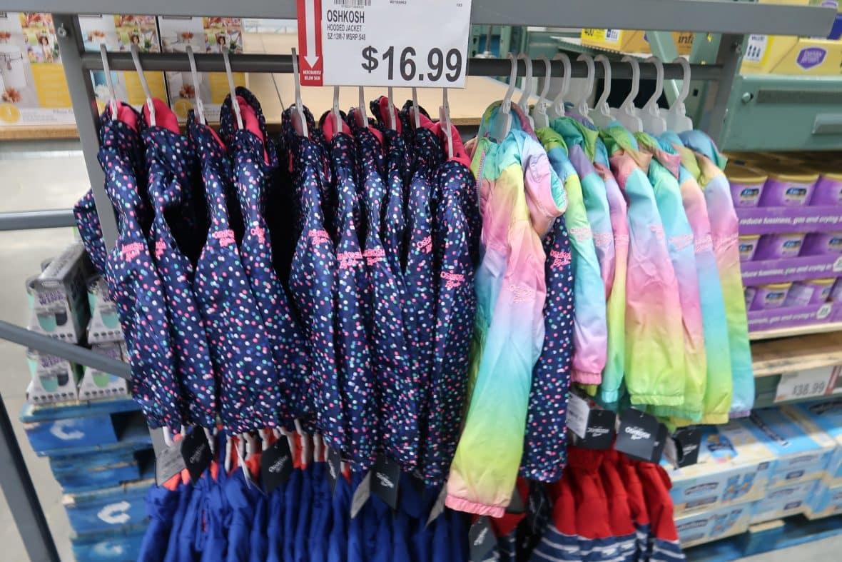 kids oshkosh b'gosh spring jackets at BJs