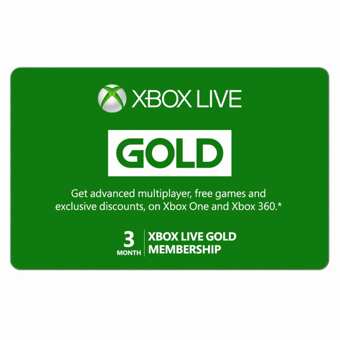 Xbox Live 3-Month Gold Card 40% Off, $14.99 Until 3/3