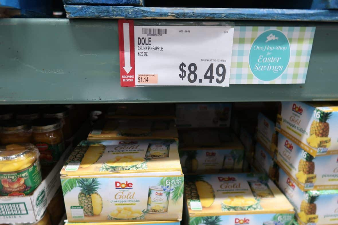 Dole Pineapple Chunks ONLY 91¢ a can!