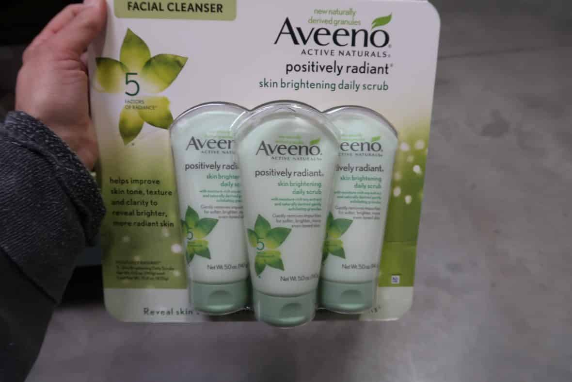 aveeno raidiant skin scrub at BJs