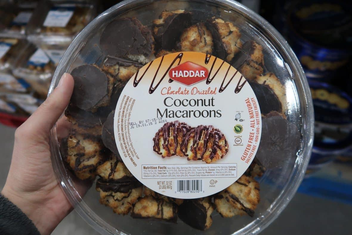 Haddar Chocolate Drizzled Coconut Macaroons $6.98