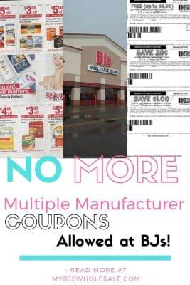 coupon policy change at BJs