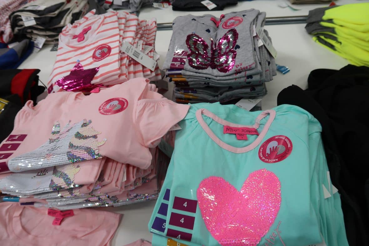 betsey johnson girls flip shirts at BJs