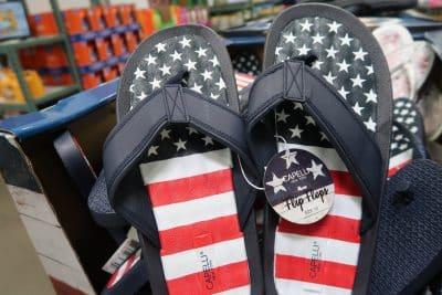 memorial day sandals at BJs