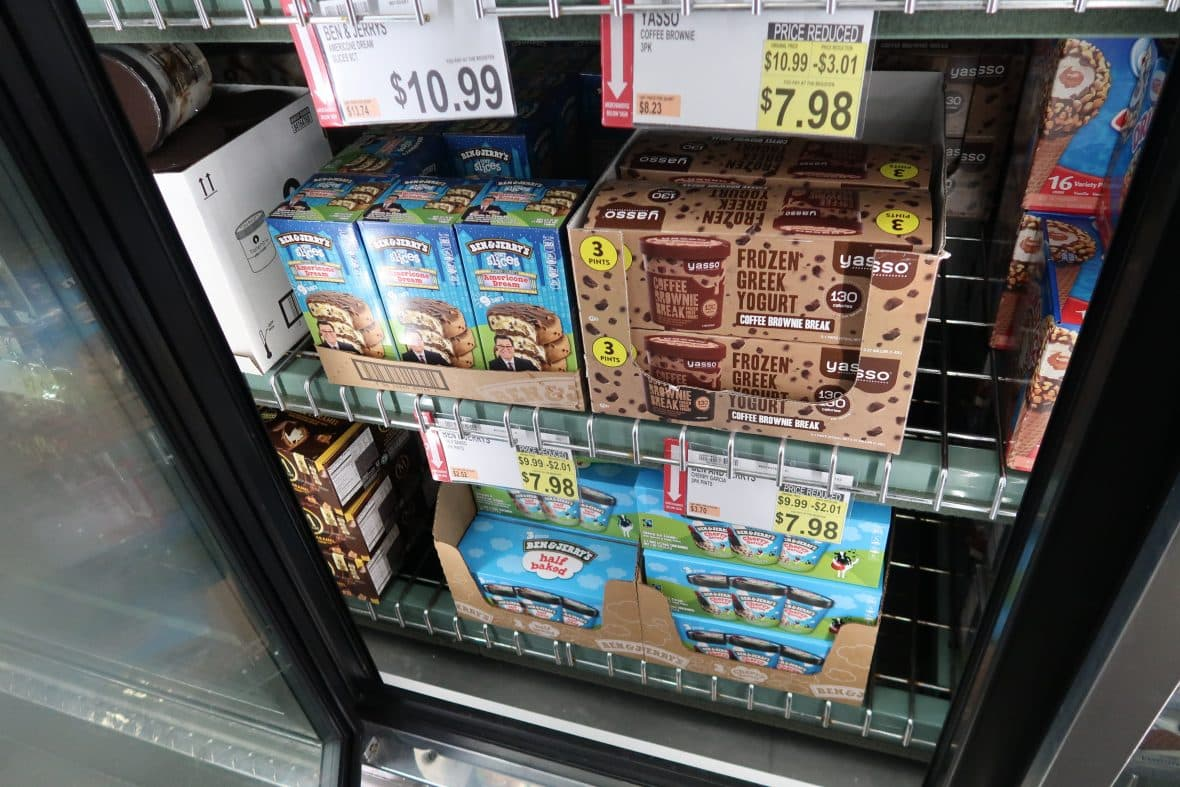 ice cream markdown at BJs