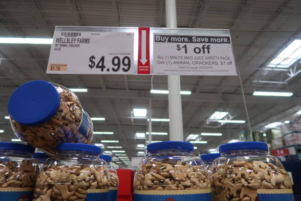 bjs brand animal crackers with coupon