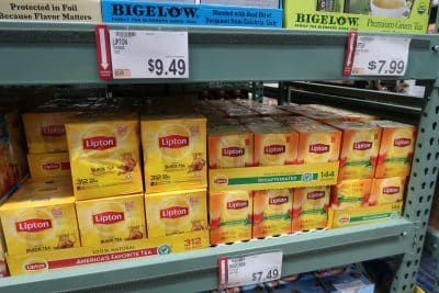 lipton tea at Bjs wholesale